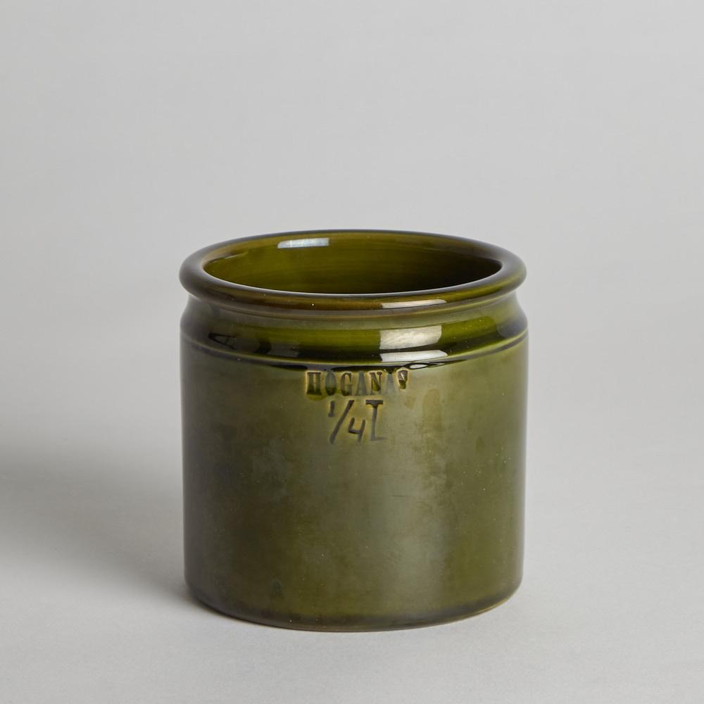 Höganäs Keramik - SÅLD Krus 1/4 liter Grön Glasyr