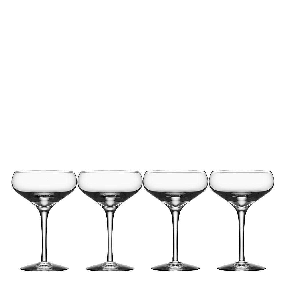 Orrefors - More Champagneskål coupe 21 cl 4-pack