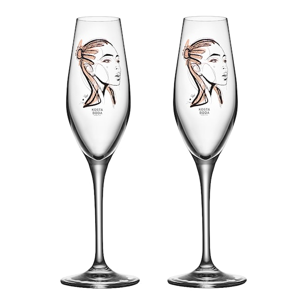 Kosta Boda All About You Champagneglass 2-pakning Forever Yours