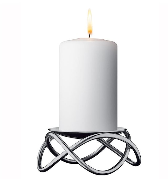 Georg Jensen Glow Ljusstake 10 cm Rostfri matt