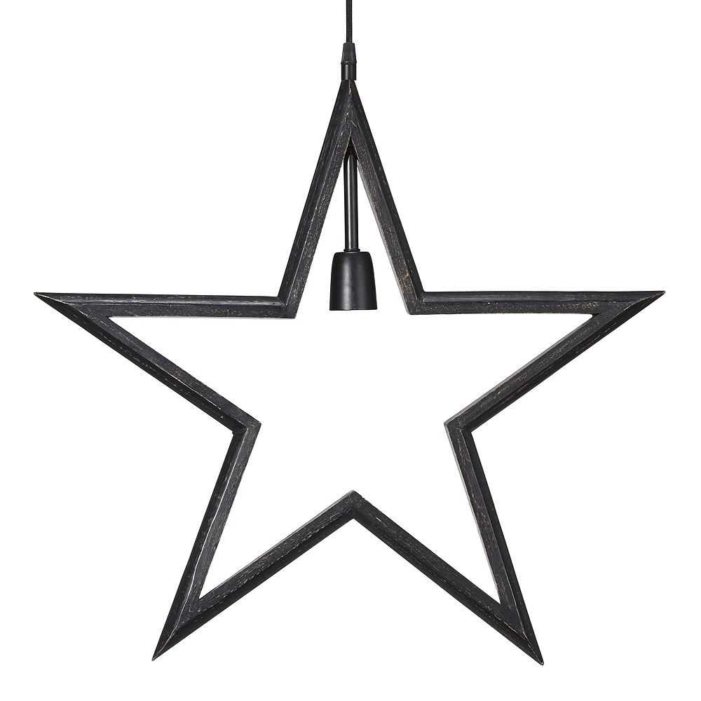 PR Home - Farm Stjärna 59 cm Svart