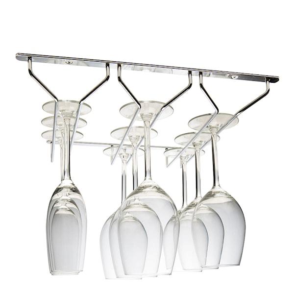 Hahn Kitchenware Glashängare 3 rader Krom