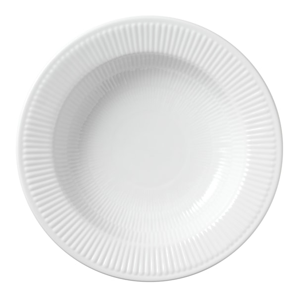 White Fluted Pastatallrik 30 cm