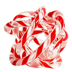 Glasskulptur Knot No 2 M  Röd/Vit