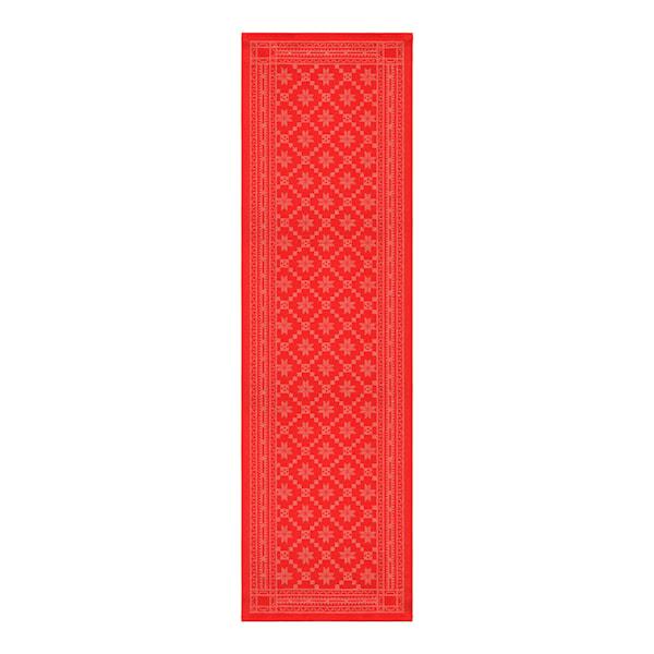 Ekelund Åttebladrose Løper 35x110 cm Rød