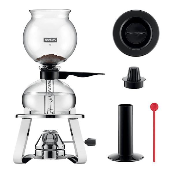 Bodum Pebo Set Kaffebryggare 8 koppar + Brännare + Tillbehör