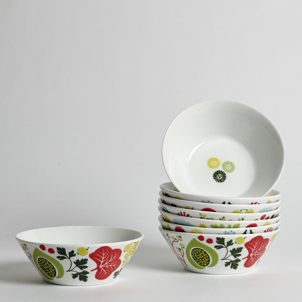 """Rörstrand - SÅLD Djupa Tallrikar """"Kulinara"""" 8 st"""