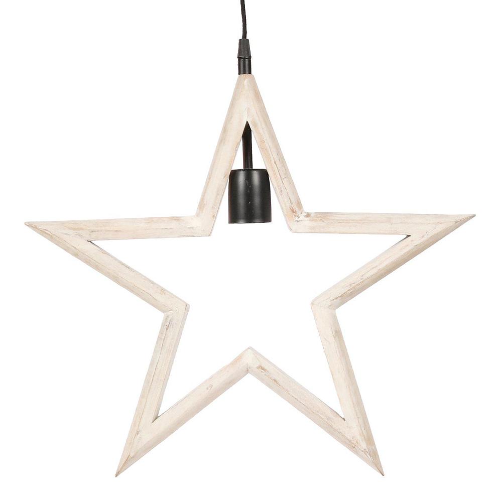 PR Home - Farm Stjärna 45 cm Vit
