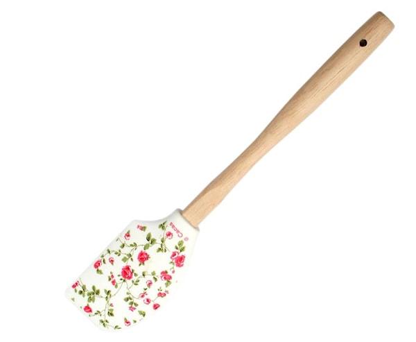 Cacas Baktillbehör Slickepott blommig Rosa