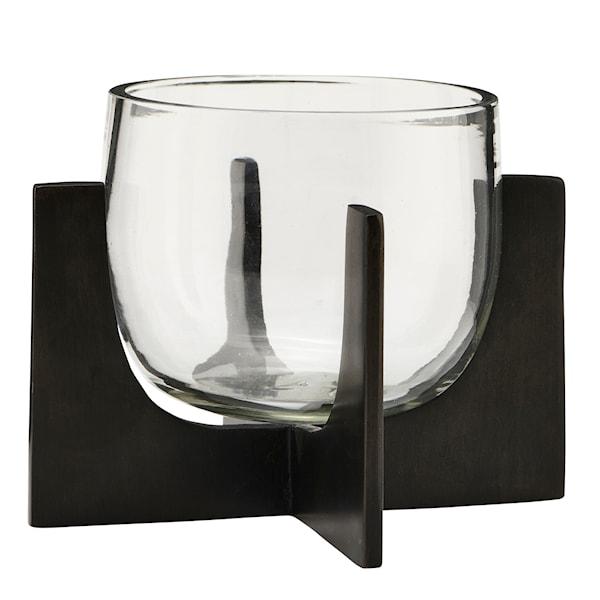 Gravity Ljuslykta Glas/Råjärn 12,5 cm