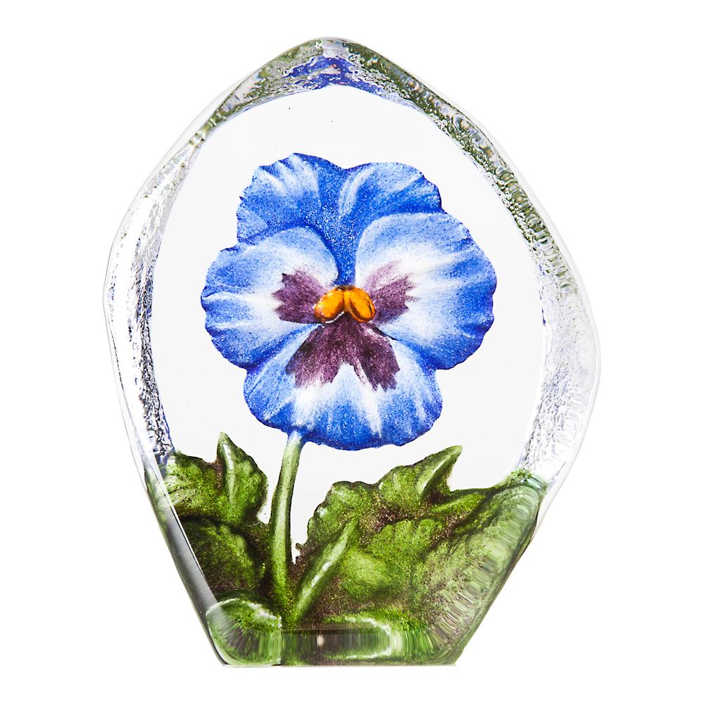 Målerås Glasbruk - Floral Fantasy Pensée 11 cm Blå