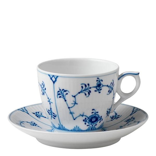 Blue Fluted Plain Kaffegods 16 cl