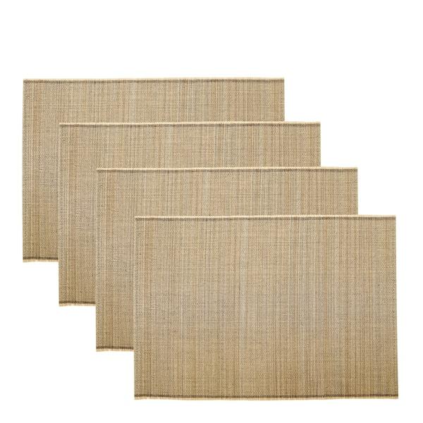House Doctor Bamb Tablett 45x33 cm 4-pack Natur
