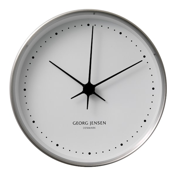 Georg Jensen Henning Koppel Klocka 22 cm Stål/Vit