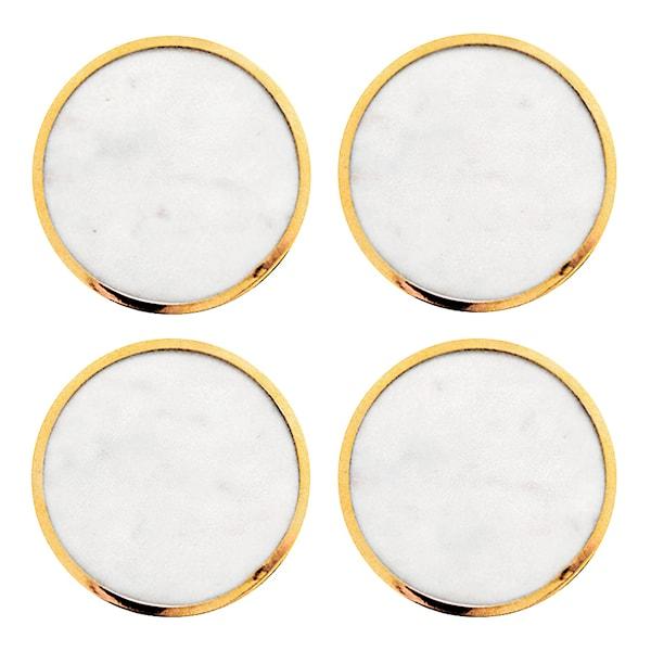 Glasunderlägg Marmor 4-pack