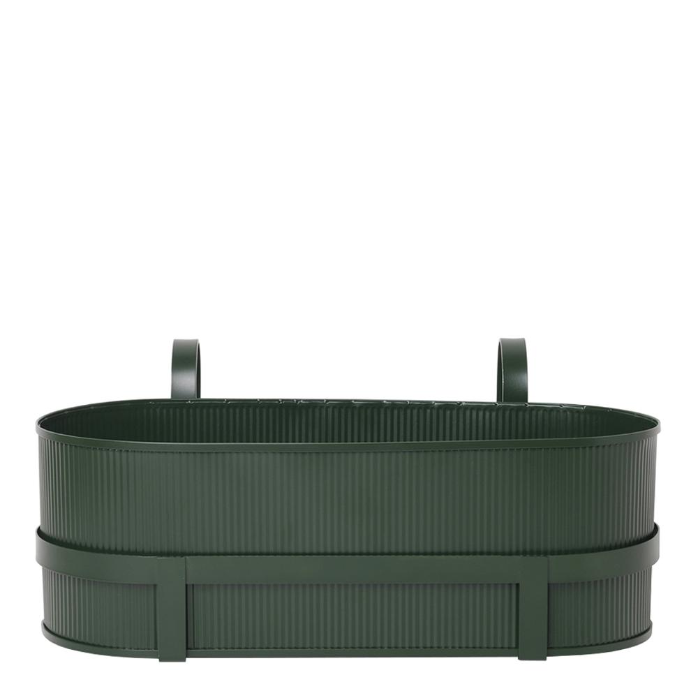 Ferm Living - Bau Balkonglåda 20x45x27,5 cm Grön