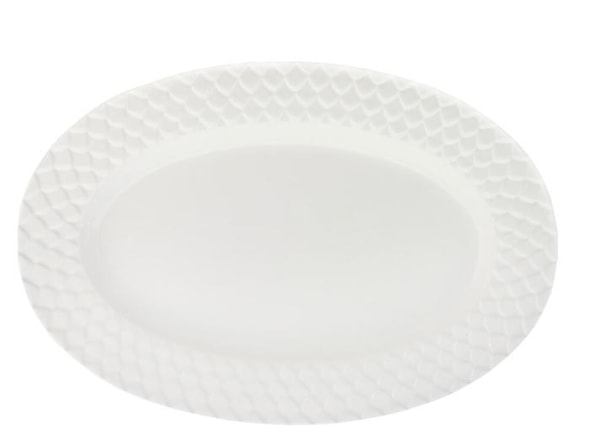 Harmony Serveringsfat oval Vit 40 cm