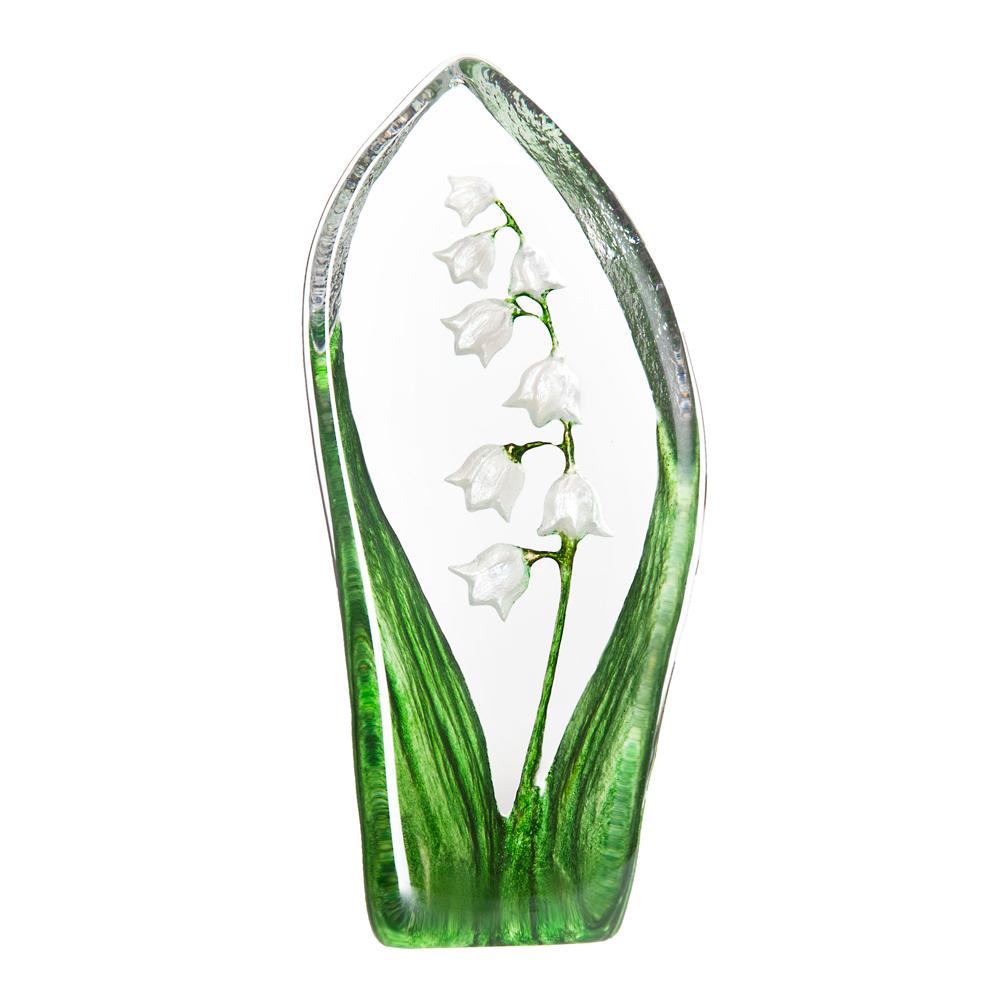 Målerås Glasbruk - Floral Fantasy Liljekonvalj 13,5 cm Grön