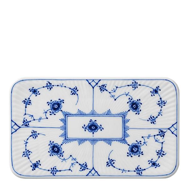 Blue Fluted Plain Serveringsbricka 15,5 cm