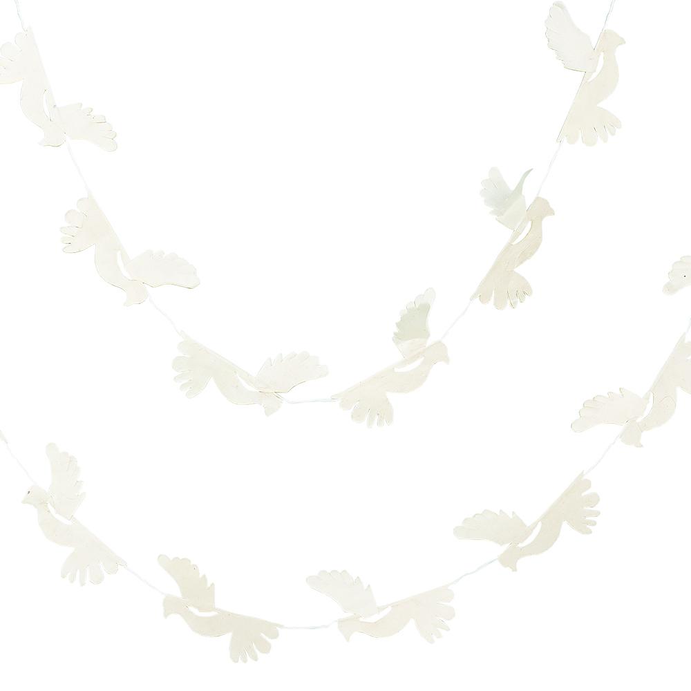 Afroart - Girlang Duvor Papper 140 cm Vit