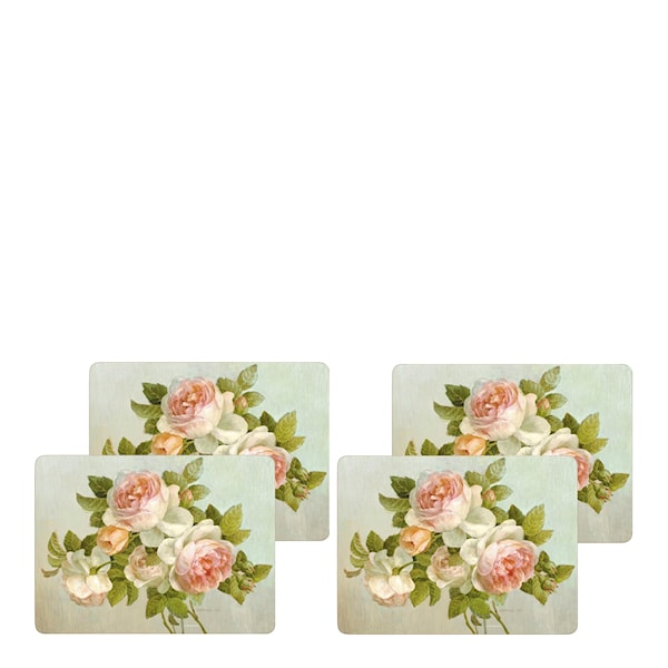 Antique Rose Bordstablett 4-pack