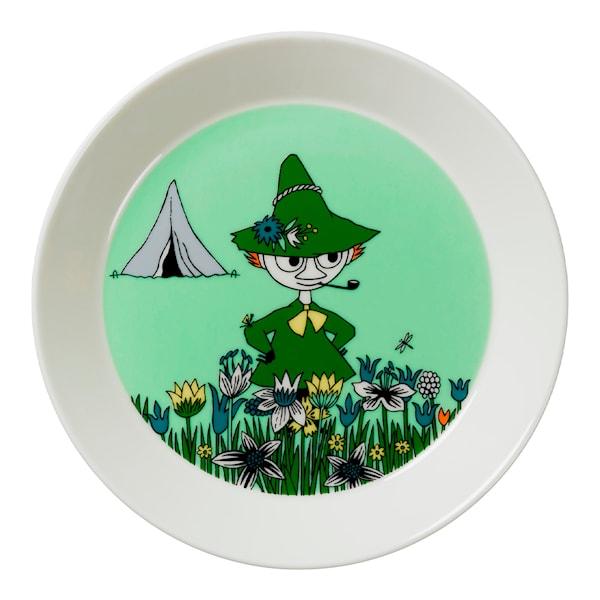 Mumin Tallrik Snusmumriken Grön