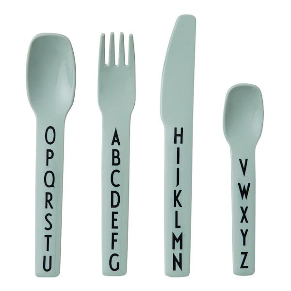 Design Letters Eat & Learn Bestickset Grön