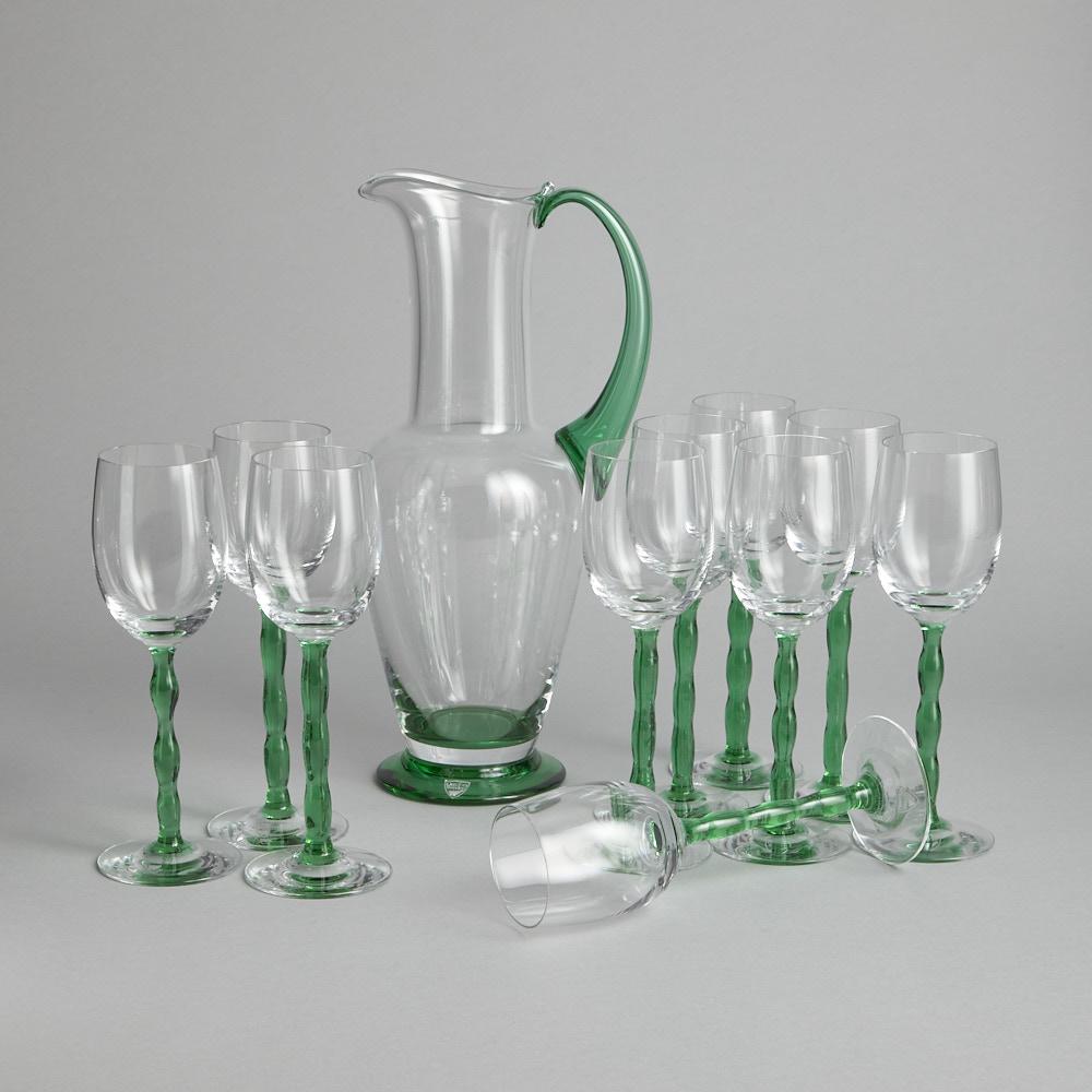 "Orrefors - Glasservis ""Nobel"" Karaff och 10 st glas"