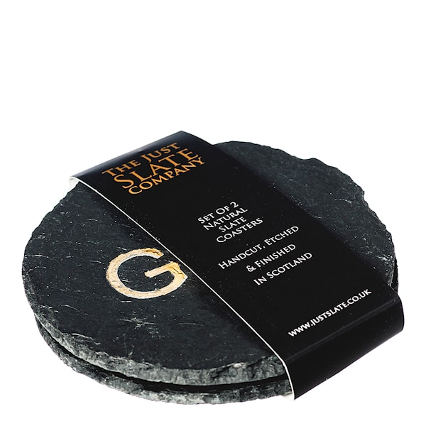 The Just Slate Company Glasunderlägg Love Gin 2-pack Guld