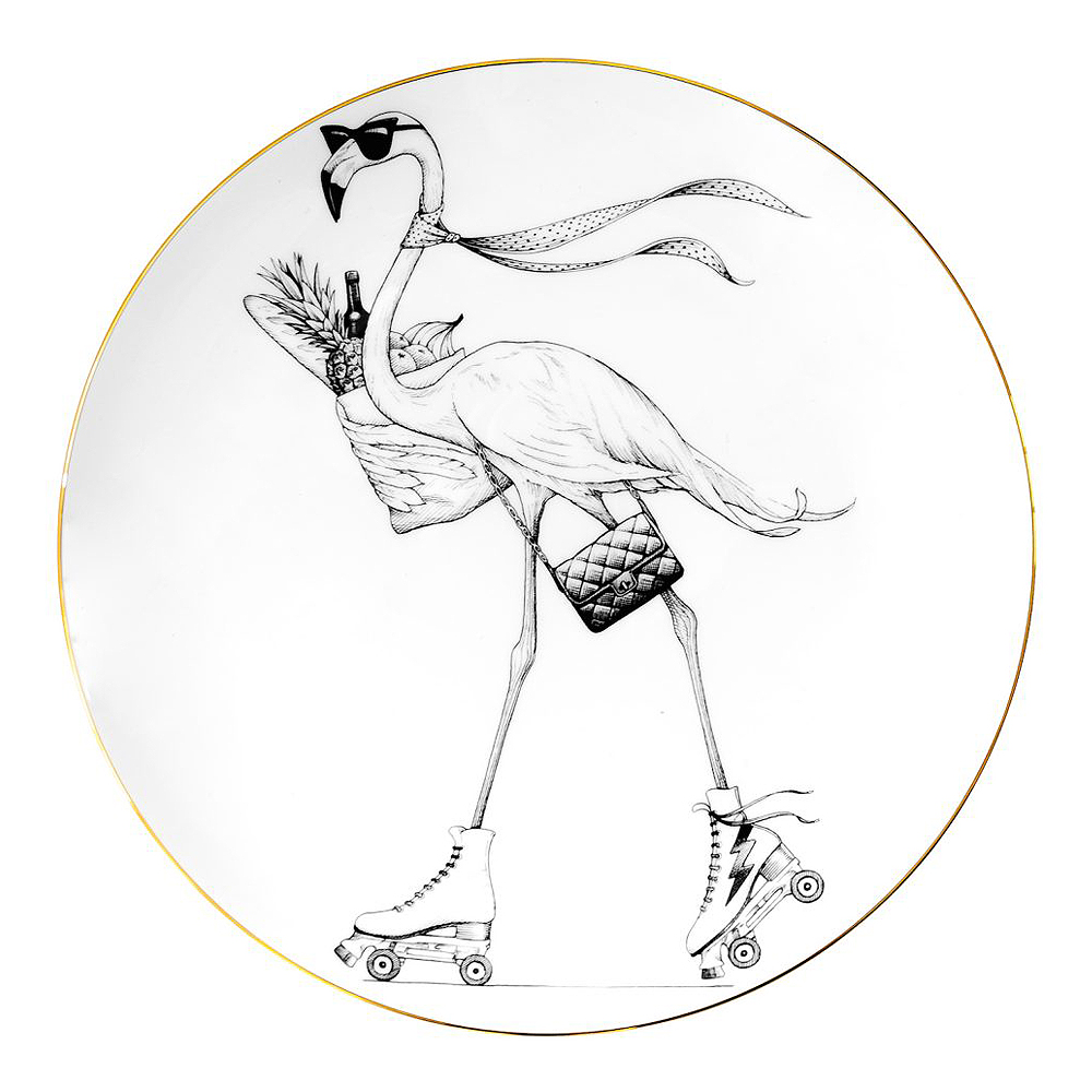 Rory Dobner - Perfect Plate Fifi Flamingo 21 cm