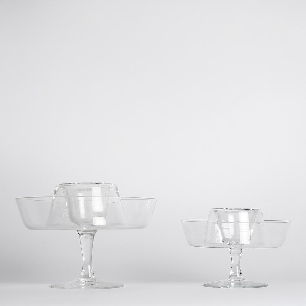 Vintage - SÅLD Räkskål Glas 2 delar