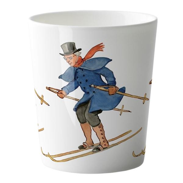 Elsa Beskow Mugg Farbror Blå åker skidor 28 cl