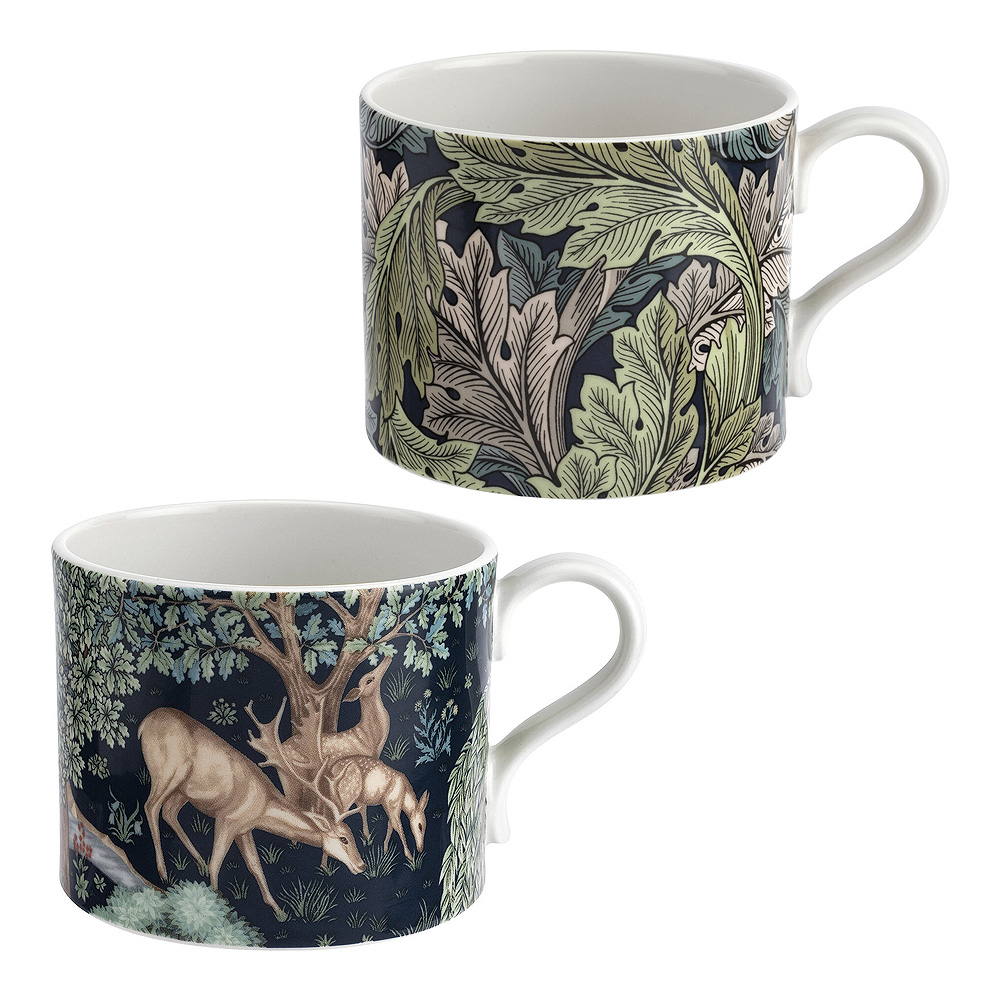Morris & Co - Pure Morris Mugg 2-pack Brook & Acanthus