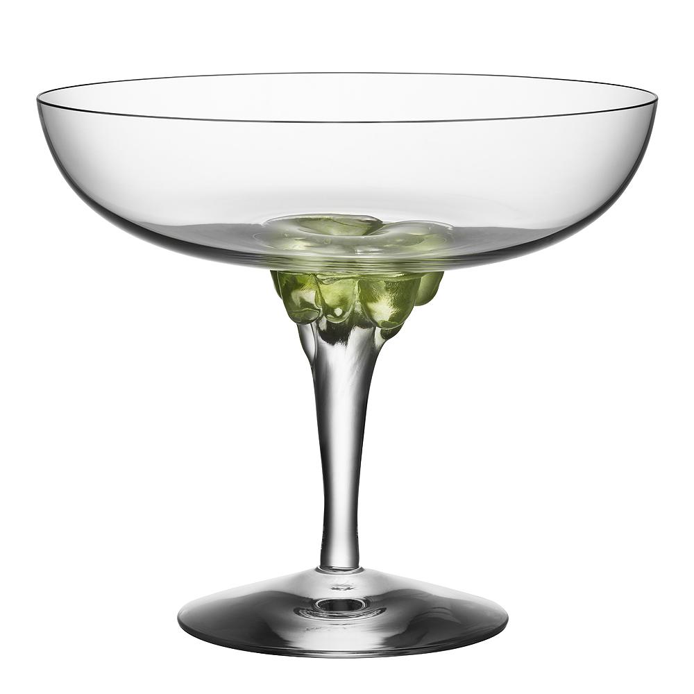 Kosta Boda - Sugar Dandy Champagneskål 25 cl Grön