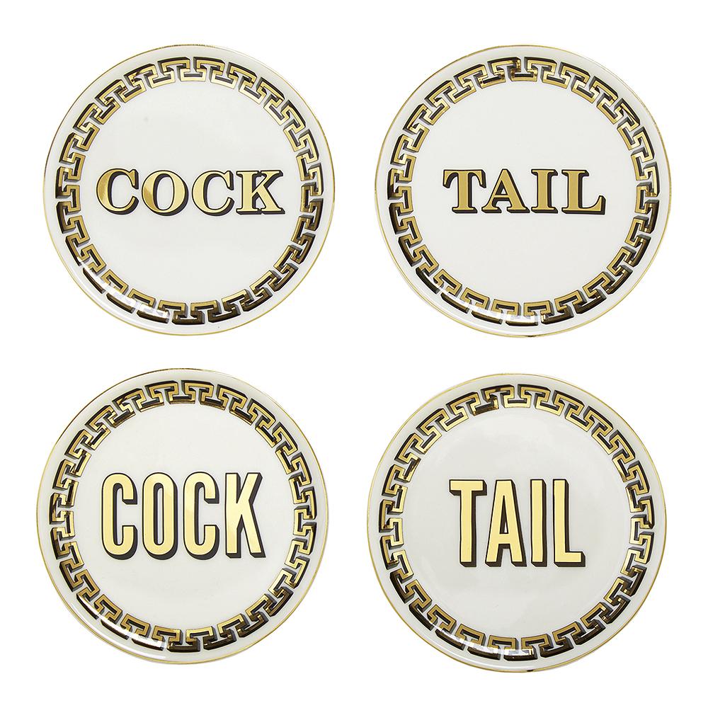 Jonathan Adler - Cock/Tail Glasunderlägg 4-pack