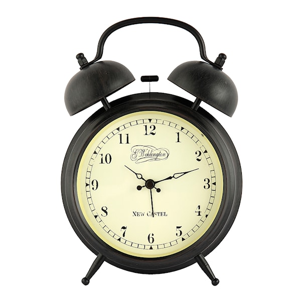 Aaltje Väckarklocka 9 cm Svart/Brun