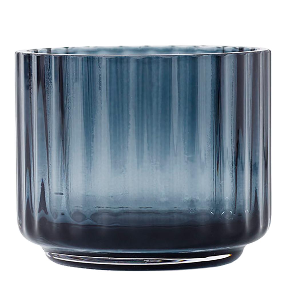 Lyngby Porcelain - Lyngby Ljuslykta liten glas Blå