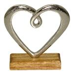 Hedy Skulptur Hjärta 16 cm Aluminium