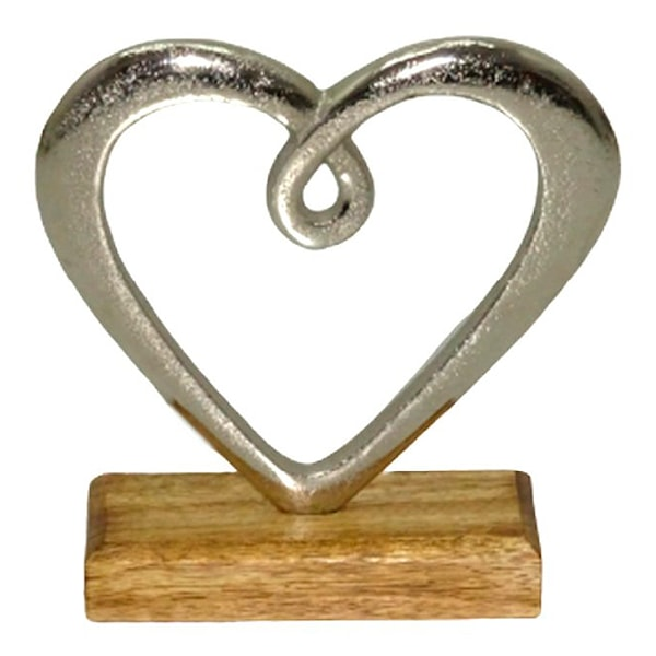 Dorre Hedy Skulptur Hjärta 16 cm Aluminium