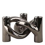 Lykke 3 Ljushållare 10 x 17 x 15 cm Mörk silver
