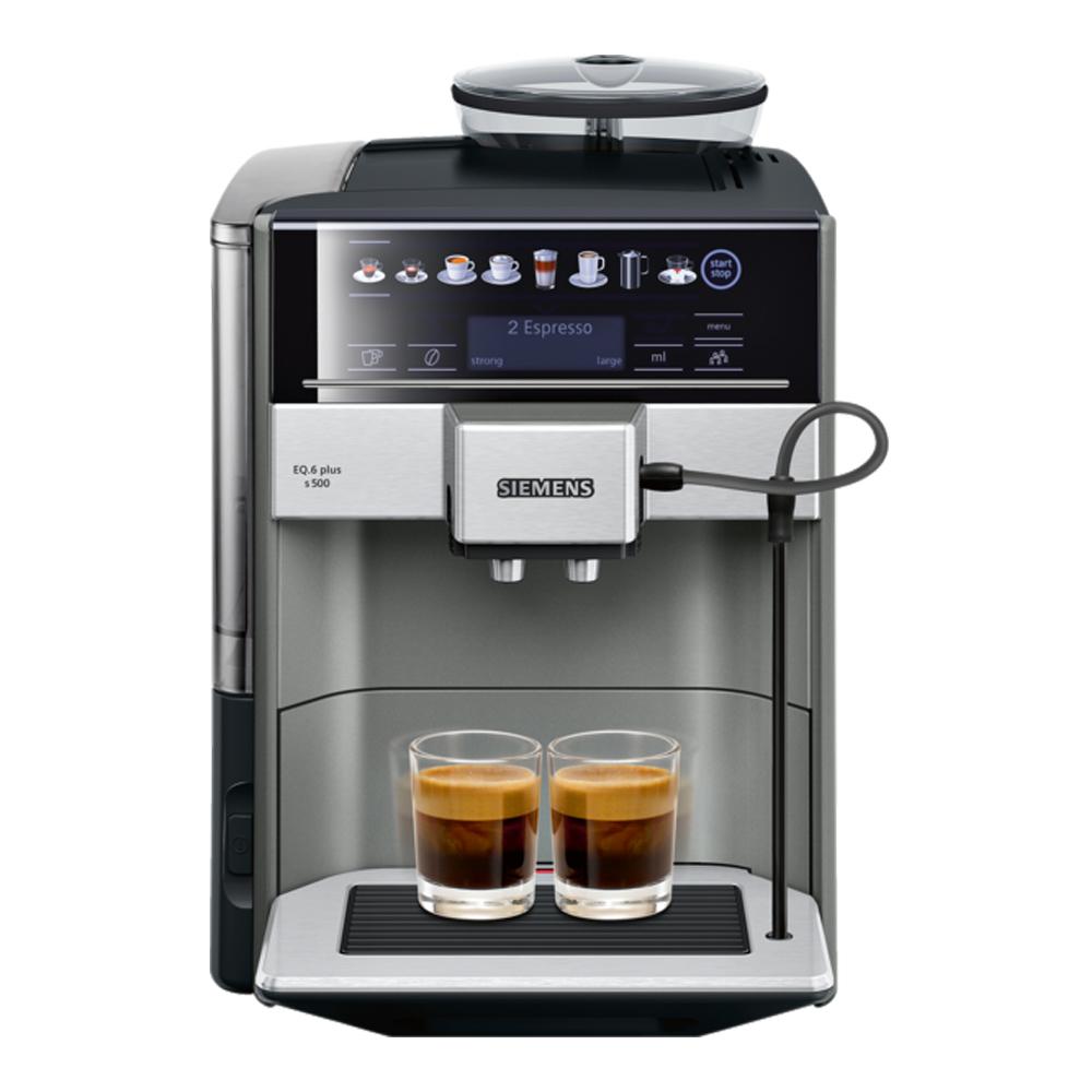 Siemens - Helautomatisk espresso/kaffemaskin EQ6 PLUS S500 Morning Haze