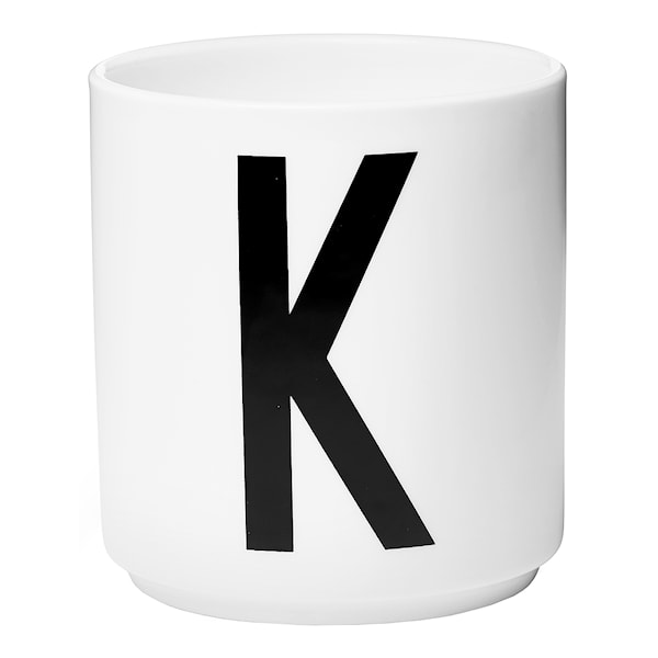 Design Letters Design Letters Mugg K Vit
