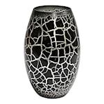 Croco Vas 26 cm Svart/Silver