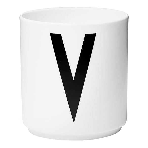 Design Letters Mugg V Vit