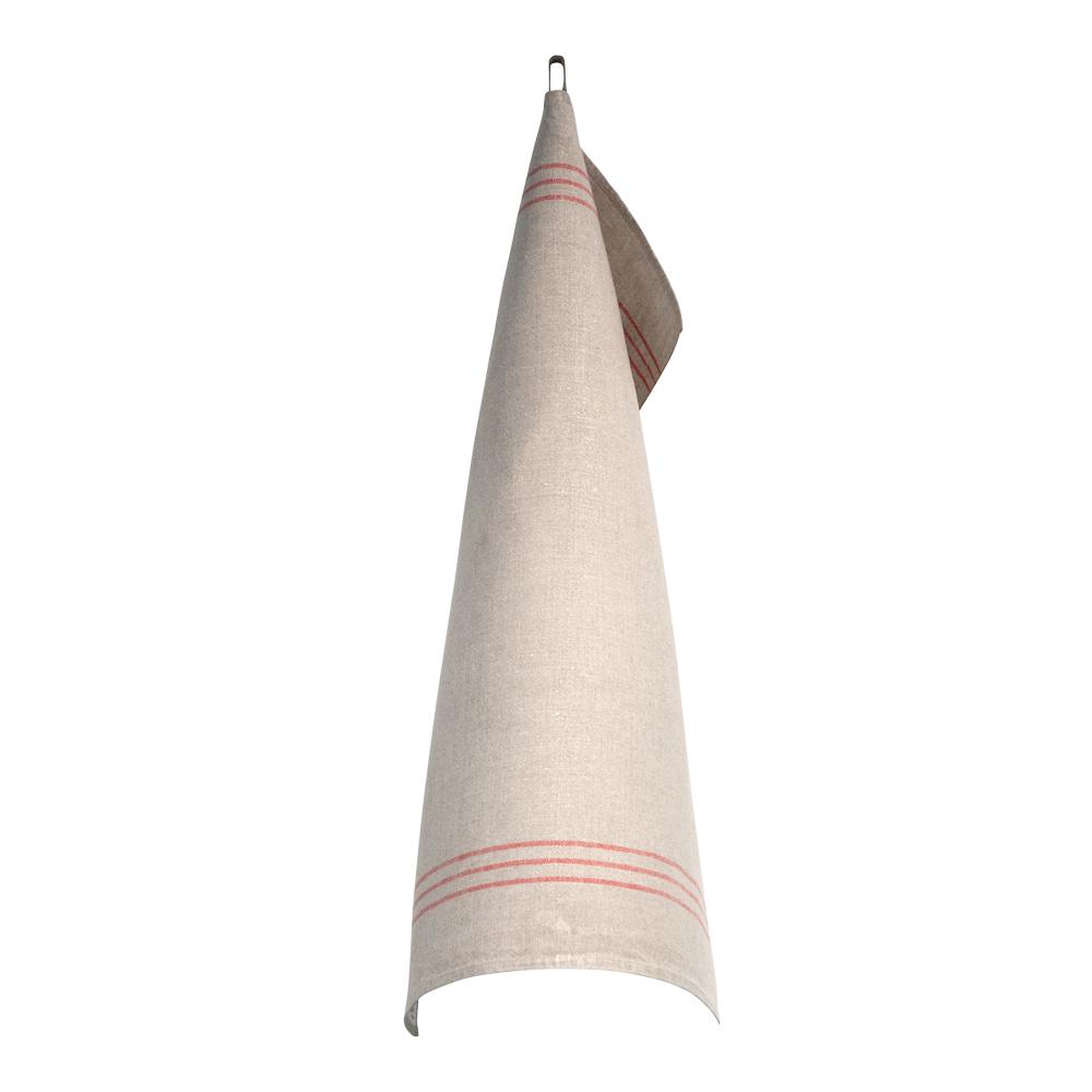 Växbo Lin - Handduk Oblekt 50x70 cm Röd/Oblekt